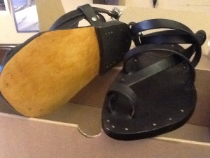 Handmade black Sandals